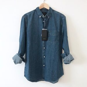 [Zara] Oversized Denim Shirt / Medium